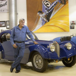 JAY LENO'S GARAGE -- Pictured: Jay Leno with 1937 Bugatti -- NBC Photo: Paul Drinkwater